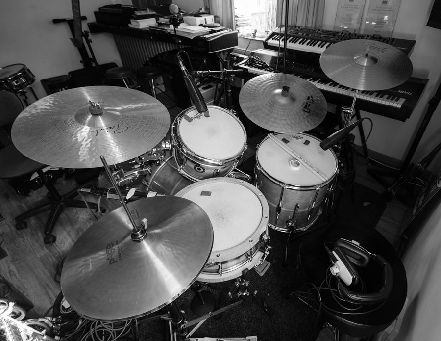 Drums in the studio for new Witchers single 'King Of The Beasts'
