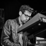 Dance music piano face