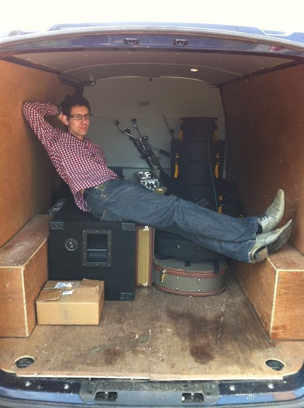 'Loading' the van – on tour with Axel Loughrey, 2010