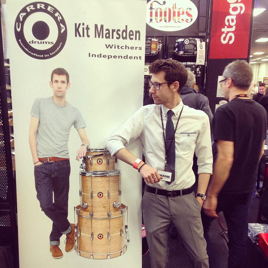 Showing the Carrera Cherry Custom at London Drum Show 2014