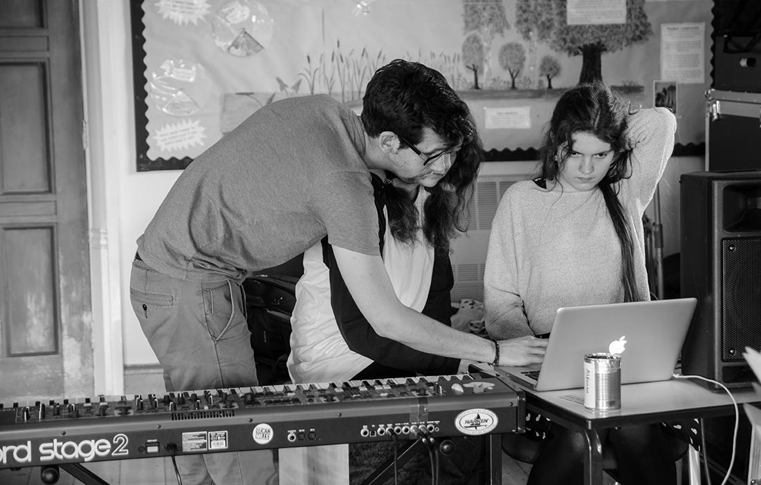 Remix workshop at Keyboard Camp (Photo: Hannah Brigham)