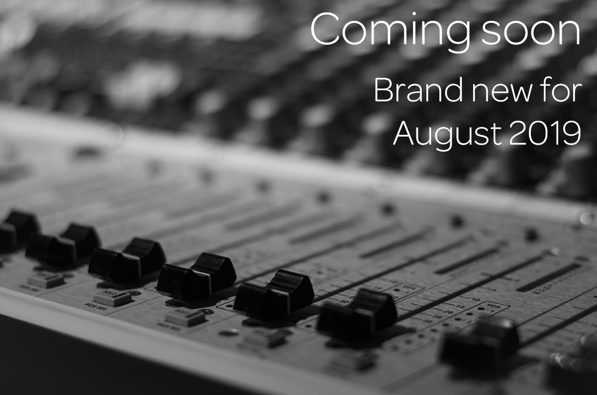 Coming soon Brand new for August 2019